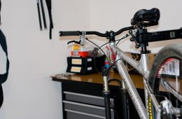 Mountain Bike On Stand - Bike Maintenance