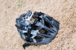 GoPro Hero Camera Mounted To Fox Helmet