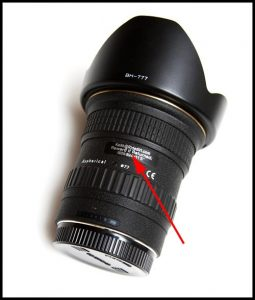 Canon DSLR Lens Label