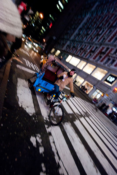 Bike Transport in Times Square
