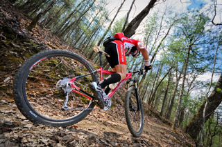 Climbing a Mountain Biking - Mountain Biking
