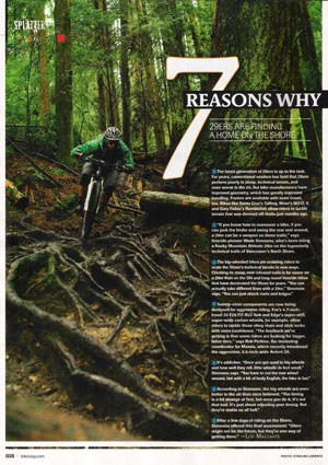 Wade Simmons 29ers North Shore Bike Mag