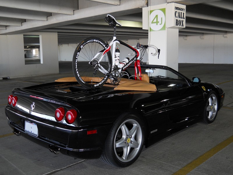 Creative Racking How To Carry A Road Bike On A Ferrari