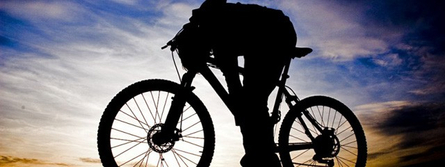 Mountain Biking at Sunset