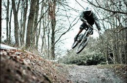 Cold Mountain Biking Downhill