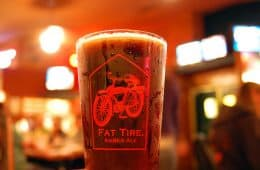 Fat Tire Amber Ale and Mountain Bikers
