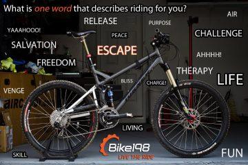 Mountain Biking in One Word