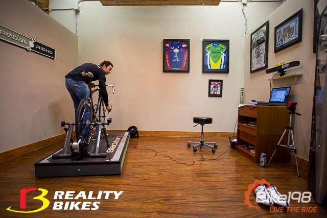 retul bike fit pedal right studio